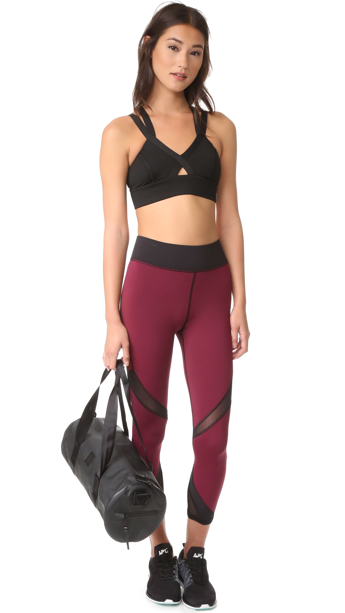 a6dd0f8688 Michi Radiate Crop Leggings in Shiraz Black
