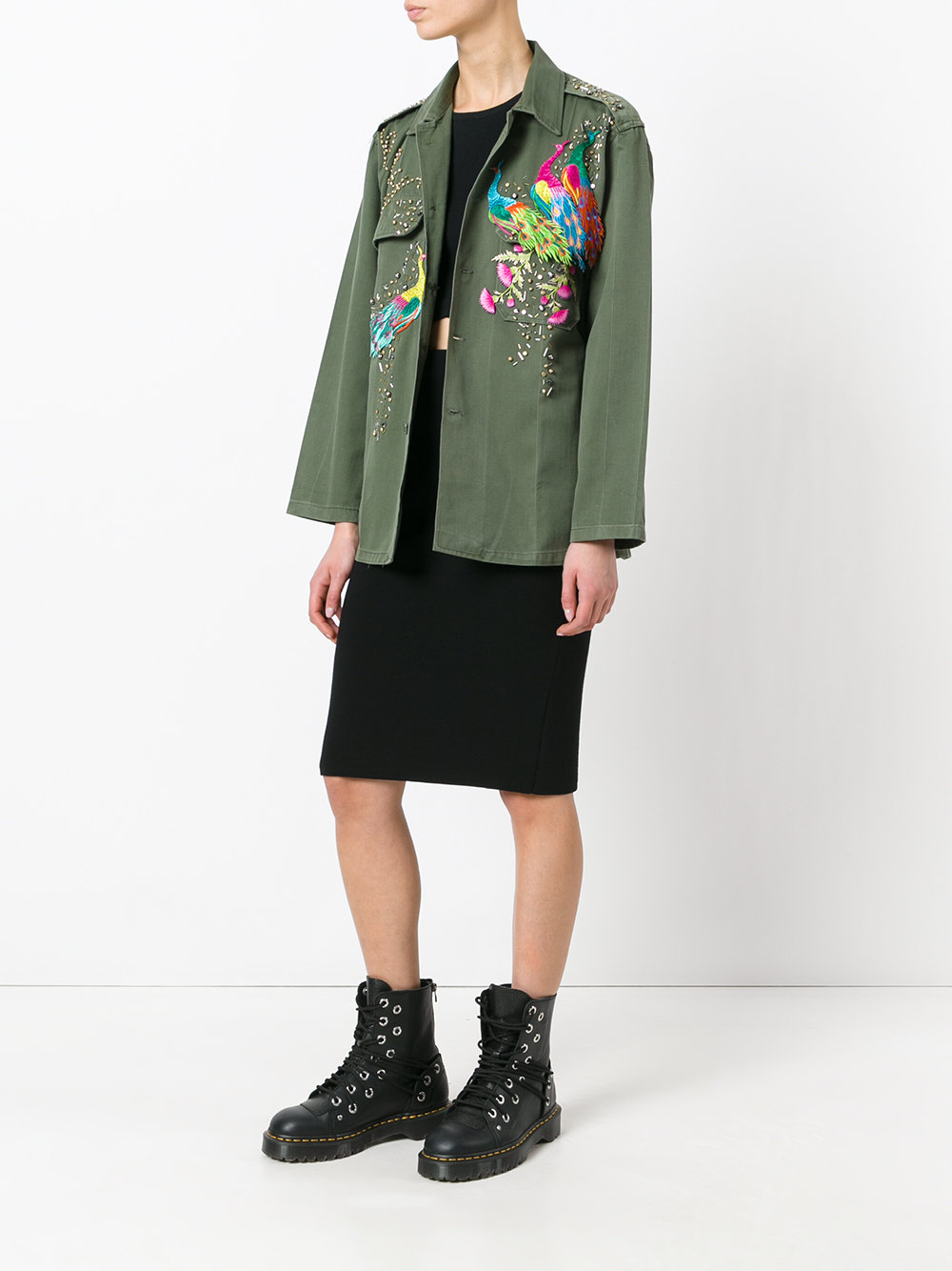 be1223e6bc1f Night Market Peacock Studded Jacket | ThisNext
