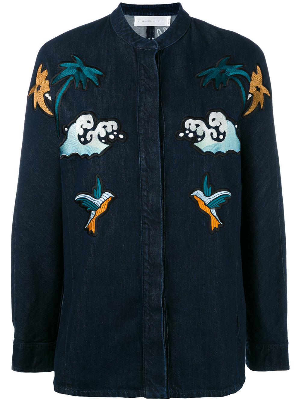 Victoria Victoria Beckham Palm Spring Denim Shirt Thisnext