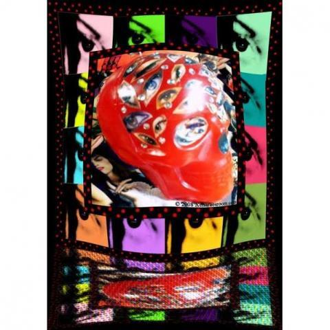 édition spéciale Kidrobot X Keith Haring Rouge Art pour l/'Afrique Keychain Keyring